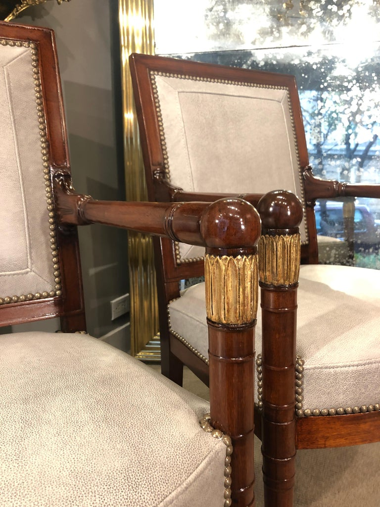 French Pair of Armchairs, France, circa 1815 For Sale