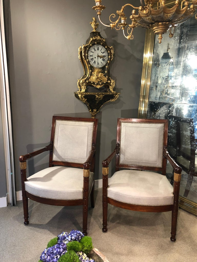 Early 19th Century Pair of Armchairs, France, circa 1815 For Sale