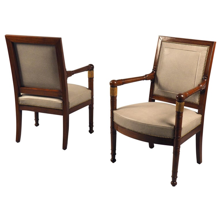 Pair of Armchairs, France, circa 1815 For Sale