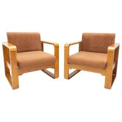 Pair of Armchairs from Prague Hotel, Czechoslovakia, 1970´s
