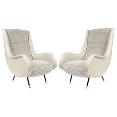 Pair of Armchairs from the 1960s with Dedar & Toyine Sellers Upholstery