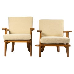Pair of Armchairs Guillerme and Chambron