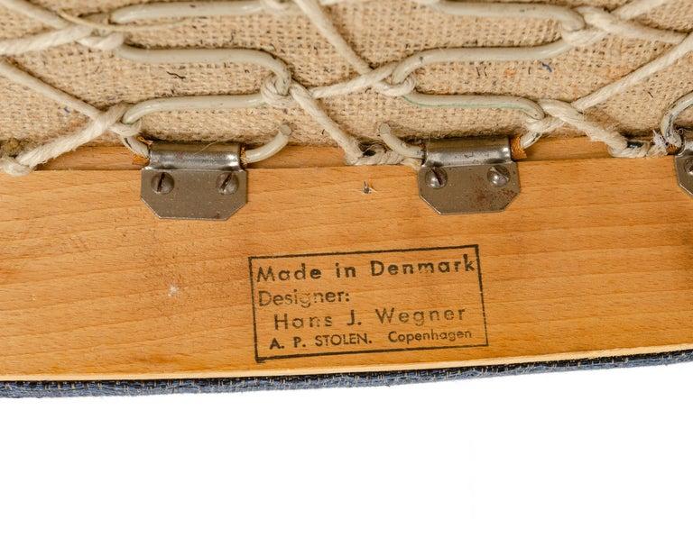 1950s Danish Pair of Armchairs Hans Wegner for A.P. Stolen For Sale 1