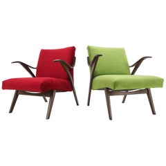 Pair of Armchairs in Brussels Style, by Tatra Pravenec, Czechoslovakia, 1960s