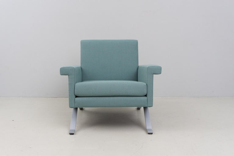 Modern Pair of Armchairs in Grey-Green, Model '875', Ico Parisi, 1960 For Sale