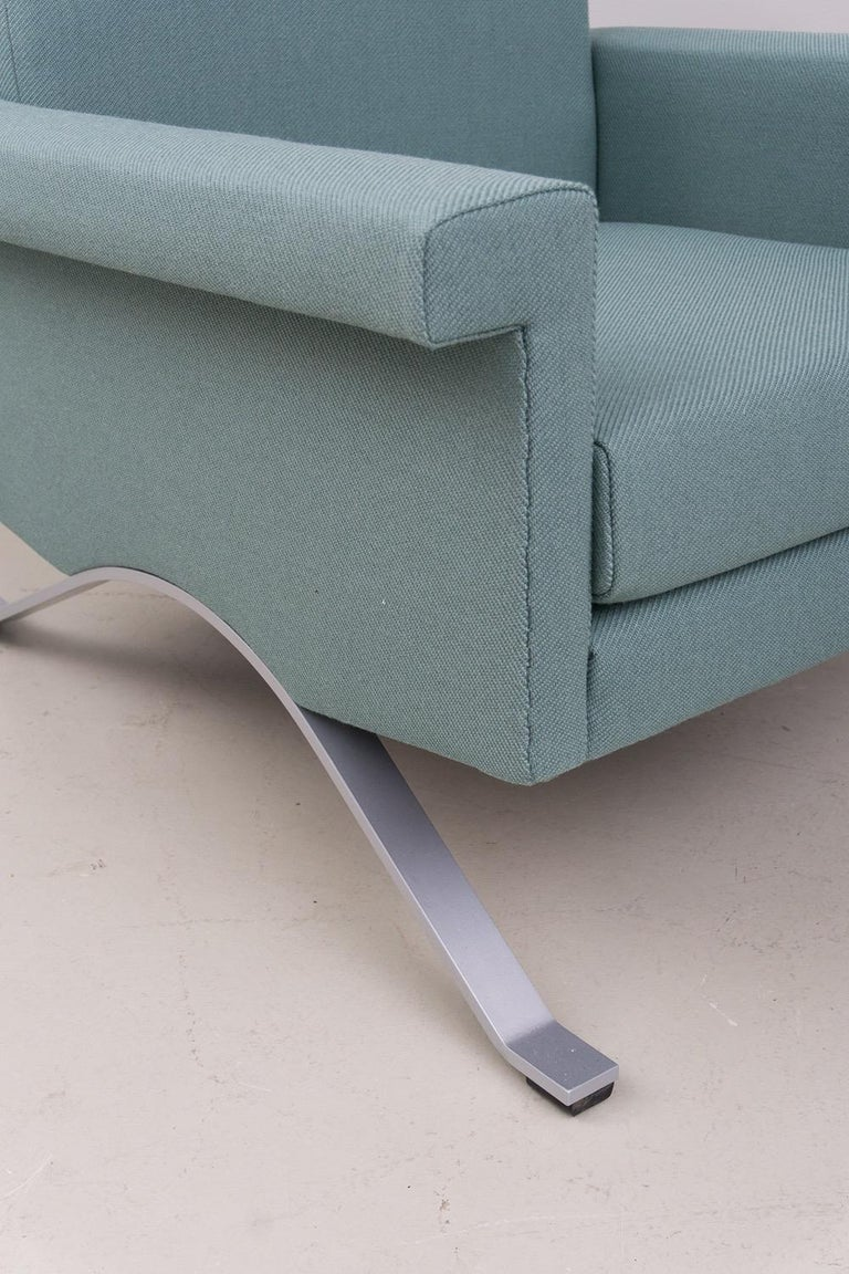 Pair of Armchairs in Grey-Green, Model '875', Ico Parisi, 1960 In Excellent Condition For Sale In Berlin, DE