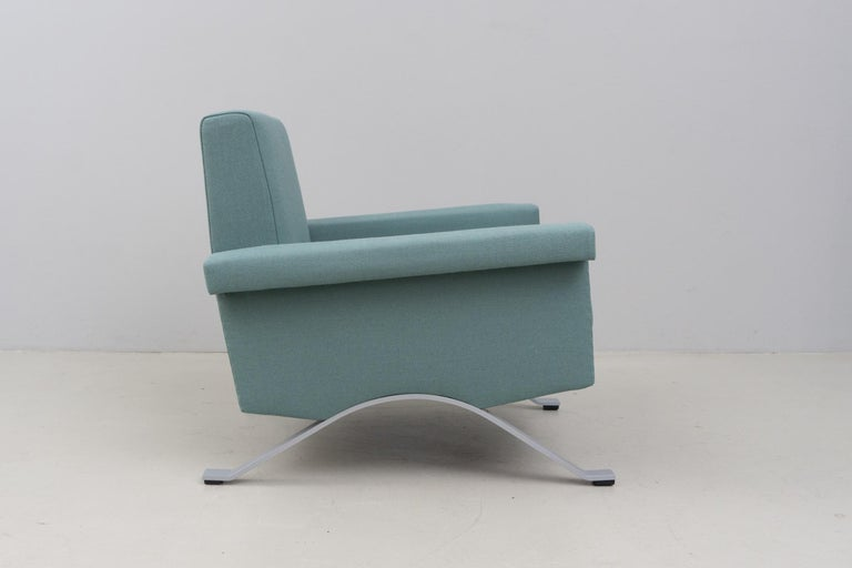 Mid-20th Century Pair of Armchairs in Grey-Green, Model '875', Ico Parisi, 1960 For Sale