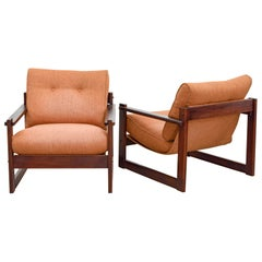 Pair of Armchairs in Rosewood, by Percival Lafer, Mid-Century Modern