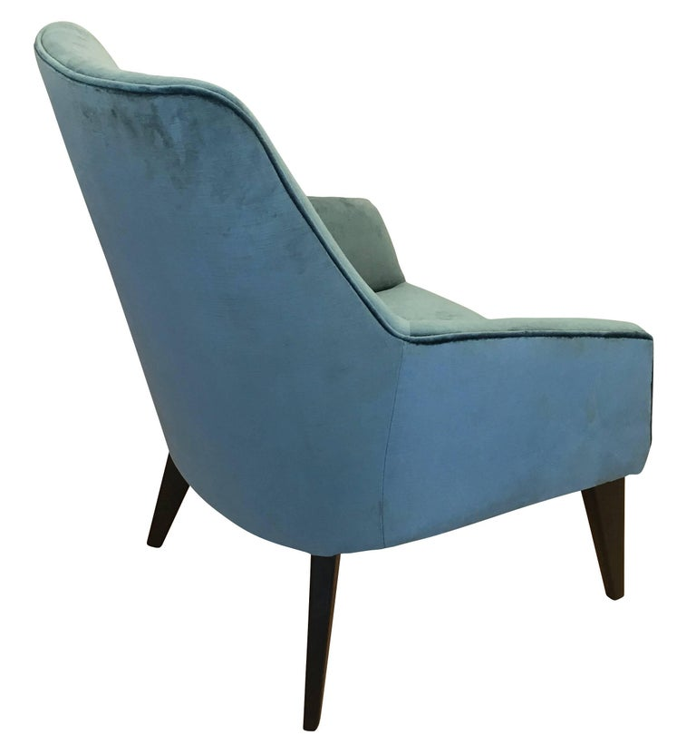 Mid-Century Modern Pair of Armchairs in the Manner of Gio Ponti For Sale
