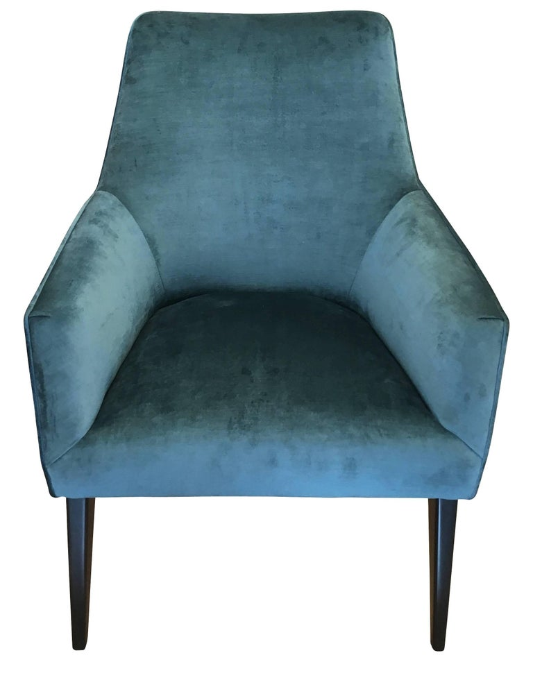 Pair of Armchairs in the Manner of Gio Ponti In Good Condition For Sale In New York, NY