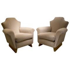 Pair of Armchairs in the Style of André Arbus, France, 1940's
