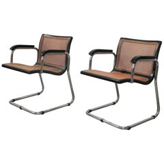 Pair of Armchairs in the Style of Marcel Breuer Bauhaus Gavina, 1970s