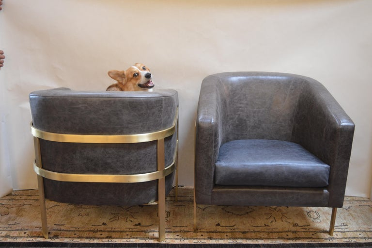 American Pair of Armchairs in the Style of Milo Baughman For Sale