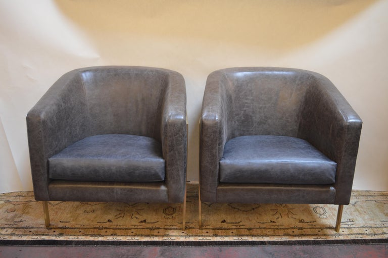 Pair of Armchairs in the Style of Milo Baughman In Good Condition For Sale In Los Angeles, CA