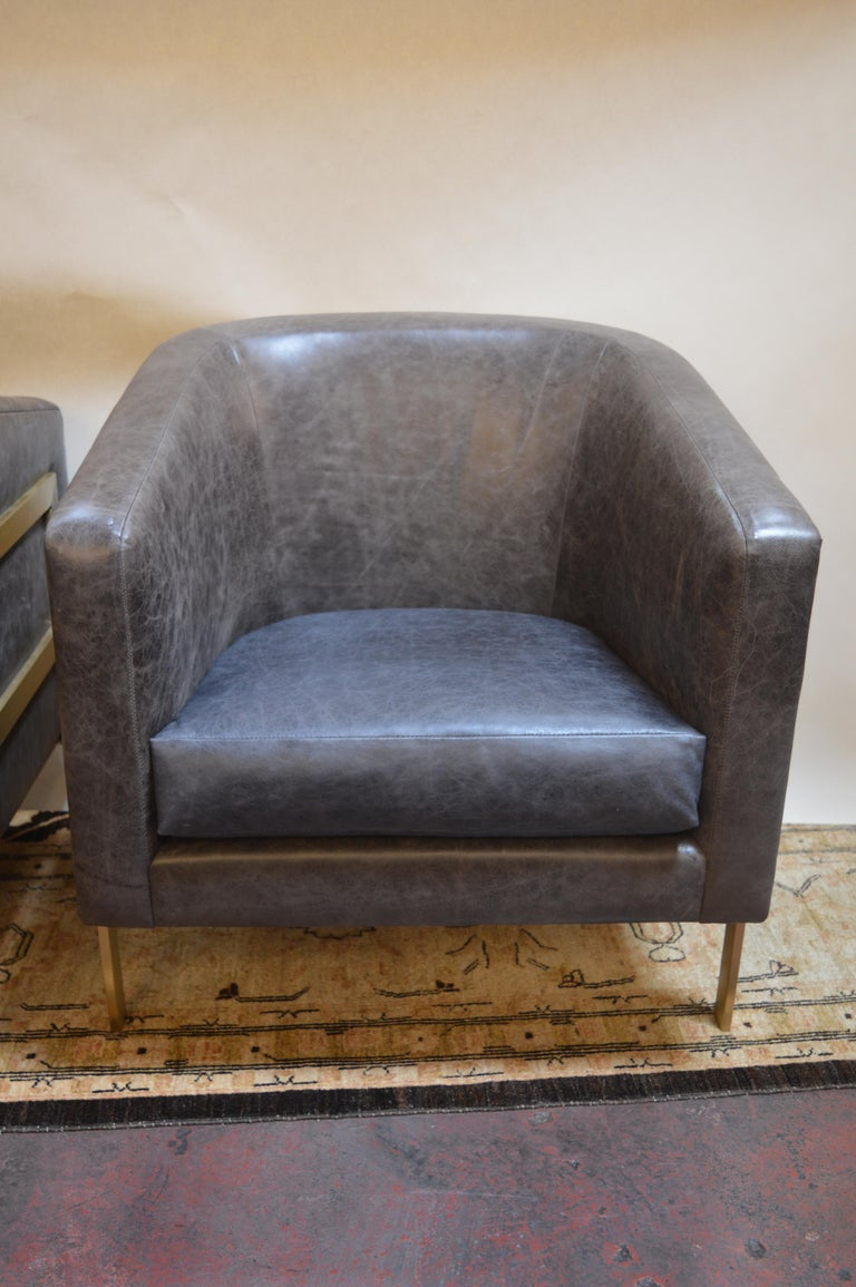 20th Century Pair of Armchairs in the Style of Milo Baughman For Sale