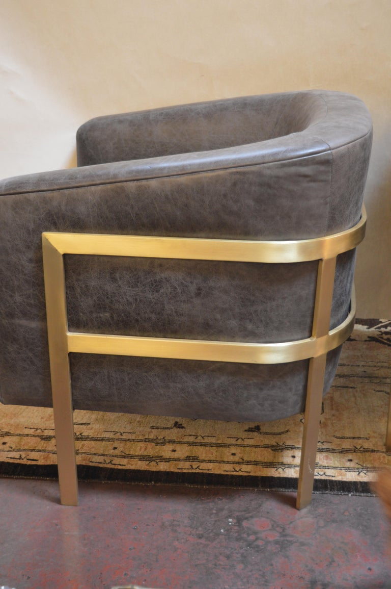 Pair of Armchairs in the Style of Milo Baughman For Sale 1