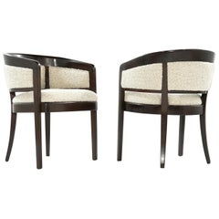 Pair of Armchairs in Wool Bouclé by Edward Wormley