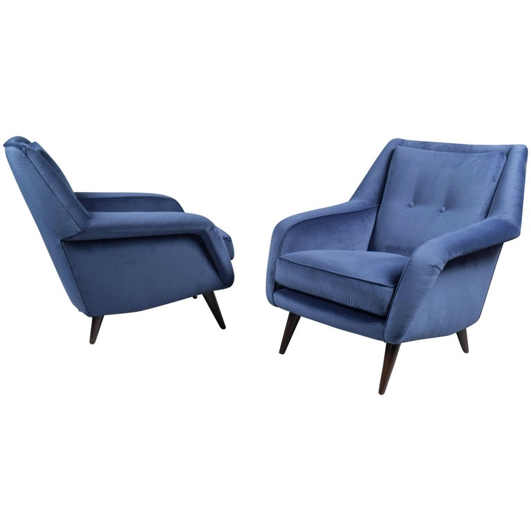 Pair of Armchairs, Italy, 1950s For Sale
