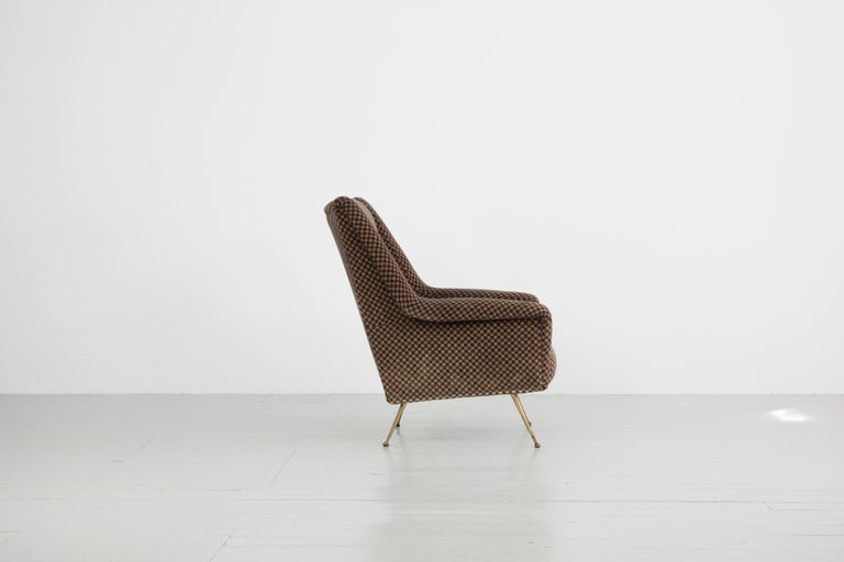 Mid-Century Modern Pair of Armchairs, Italy, 1960s For Sale