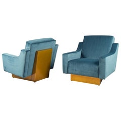 Pair of Armchairs, Italy, 1970s