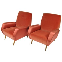 Pair of Armchairs, Mod. 803, Design by Gio Ponti, Cassina Production Italy, 1954