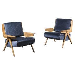 Pair of Armchairs Mod. 831 by Gianfranco Frattini