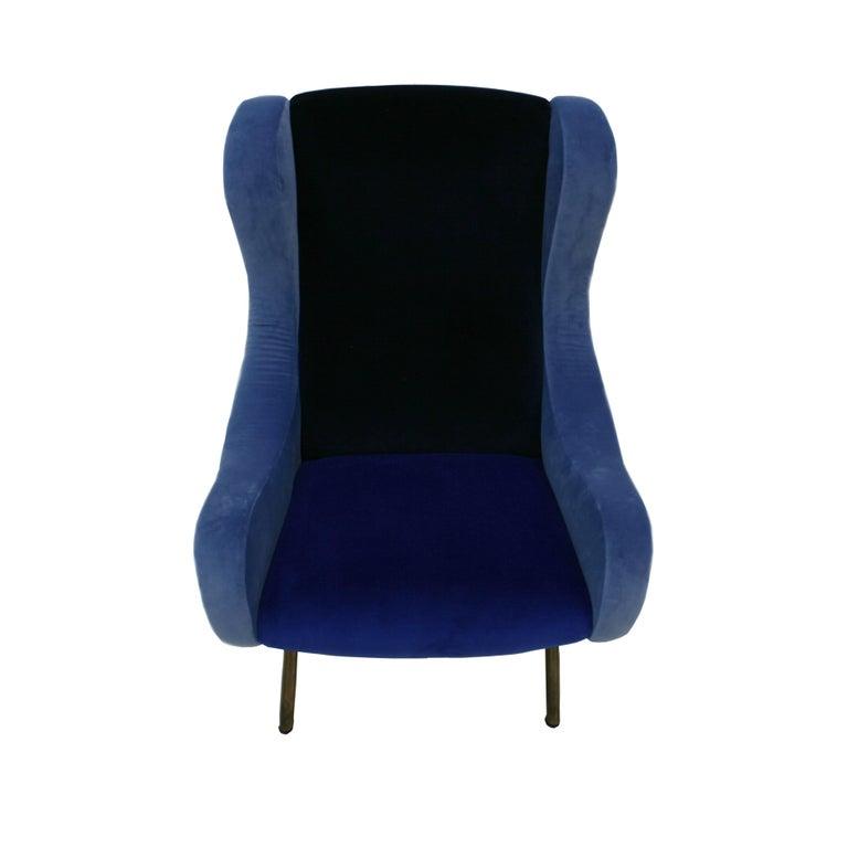 Italian Pair of Armchairs Mod. Senior For Sale
