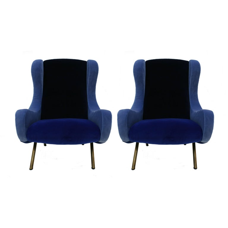 Pair of Armchairs Mod. Senior For Sale