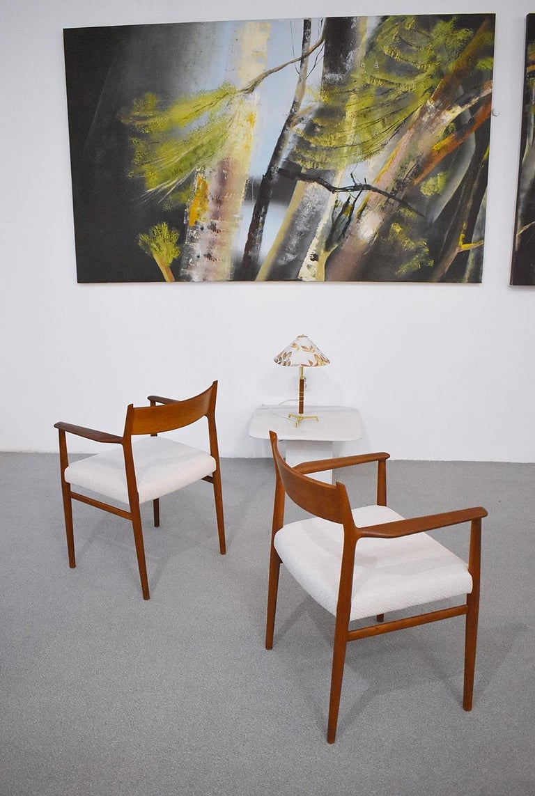 Danish Pair of Armchairs Model 418 by Arne Vodder for Sibast, Denmark, 1960 For Sale