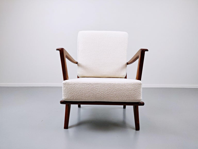 Pair of Armchairs Model 516 by Gio Ponti for Cassina, 1950s For Sale 3