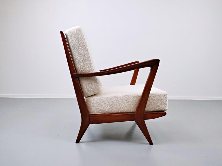 Pair of Armchairs Model 516 by Gio Ponti for Cassina, 1950s For Sale 4