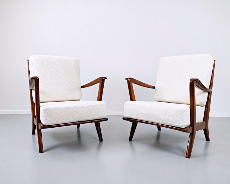 Pair of armchairs model 516 by Gio Ponti for Cassina, 1950s.