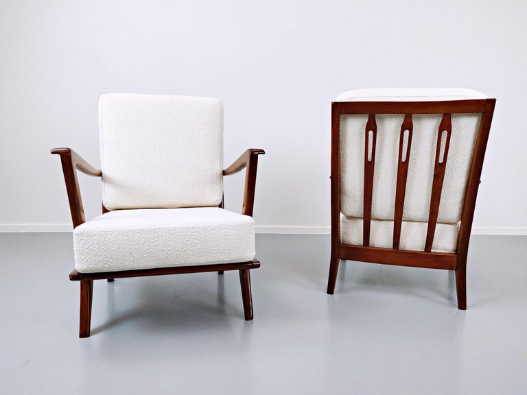 Italian Pair of Armchairs Model 516 by Gio Ponti for Cassina, 1950s For Sale