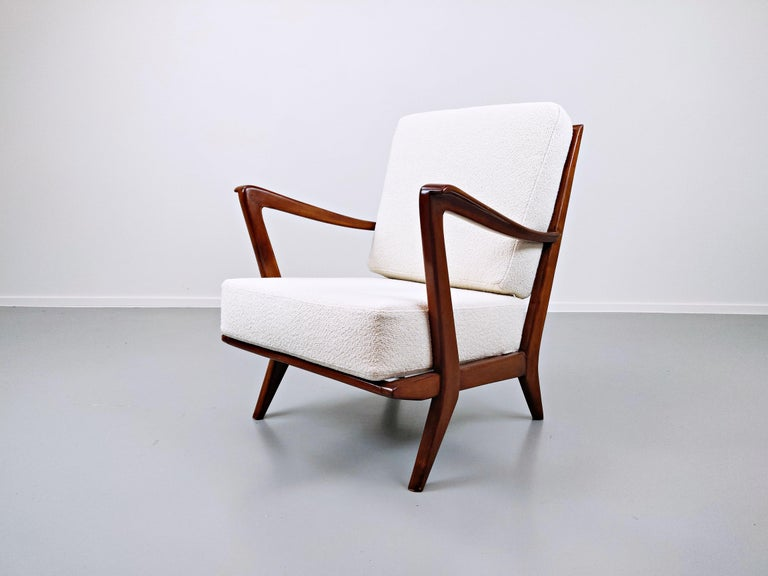 Pair of Armchairs Model 516 by Gio Ponti for Cassina, 1950s For Sale 1