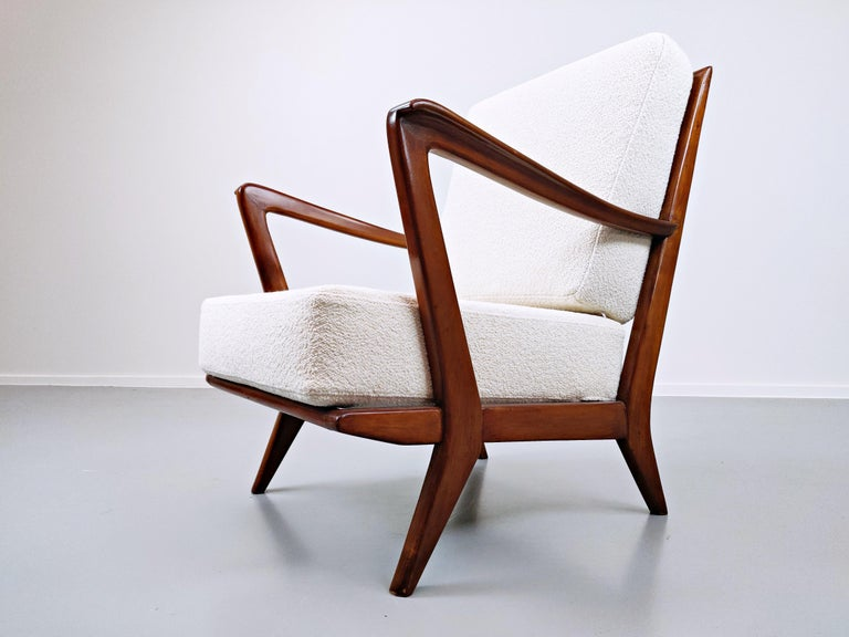 Pair of Armchairs Model 516 by Gio Ponti for Cassina, 1950s For Sale 2
