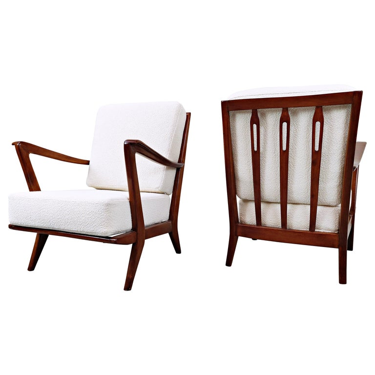 Pair of Armchairs Model 516 by Gio Ponti for Cassina, 1950s For Sale