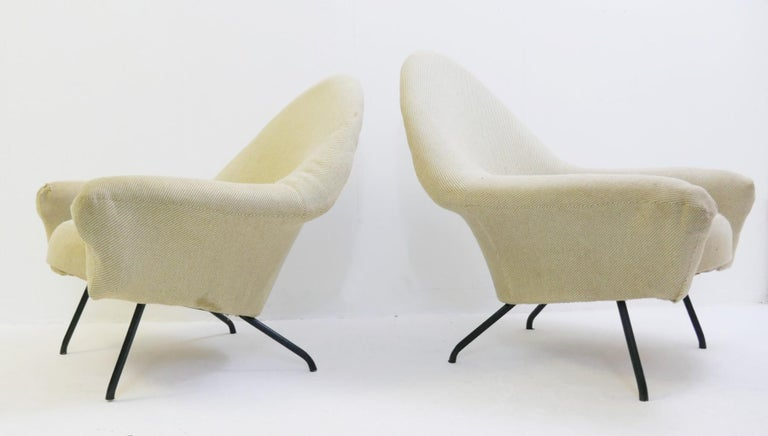 Pair of armchairs model 770 by Joseph-André Motte - 1958.