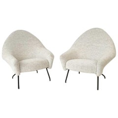 Pair of armchairs model 770 by Joseph André Motte for Steiner - France 1958