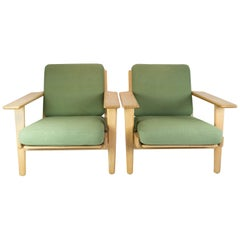 Pair of Armchairs, Model GE290, Designed by Hans J. Wegner, 1960s