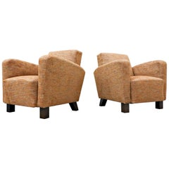 Pair of Armchairs Model H-282 by Jindrich Halabala, Czechoslovakia, 1940s