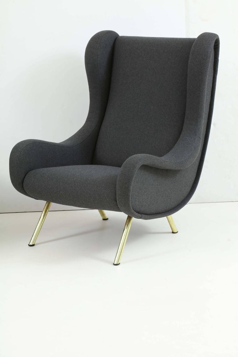 Mid-Century Modern Pair of Armchairs, Model 'Senior' by Marco Zanuso For Sale