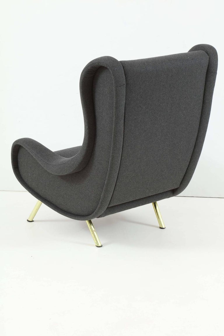 Italian Pair of Armchairs, Model 'Senior' by Marco Zanuso For Sale