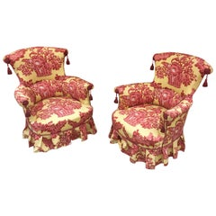 Pair of Armchairs Napoleon III, Completely Redone