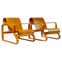Pair of Armchairs Paimio Number 41 Designed by Alvar Aalto for Artek, Finland