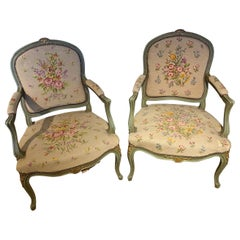 Pair of Armchairs, Painted in the Louis XV Style