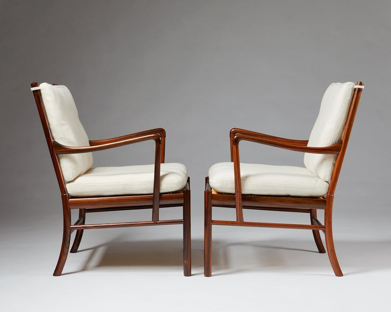 """Danish Pair of Armchairs, PJ 149, """"Colonial"""", Designed by Ole Wanscher for P. Jeppesen For Sale"""