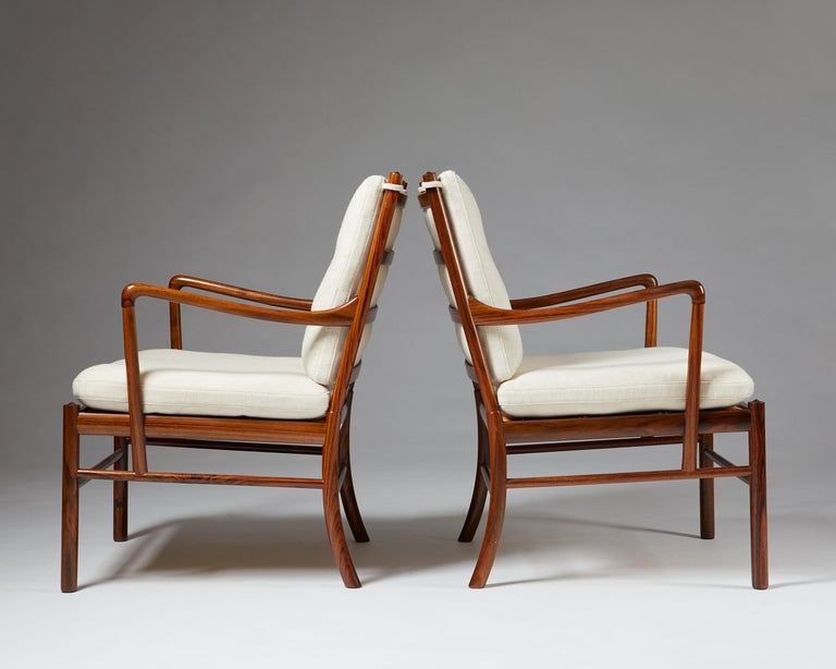 """Woven Pair of Armchairs, PJ 149, """"Colonial"""", Designed by Ole Wanscher for P. Jeppesen For Sale"""