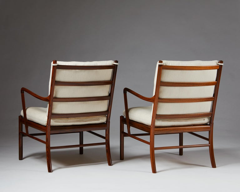 """Pair of Armchairs, PJ 149, """"Colonial"""", Designed by Ole Wanscher for P. Jeppesen In Good Condition For Sale In Stockholm, SE"""