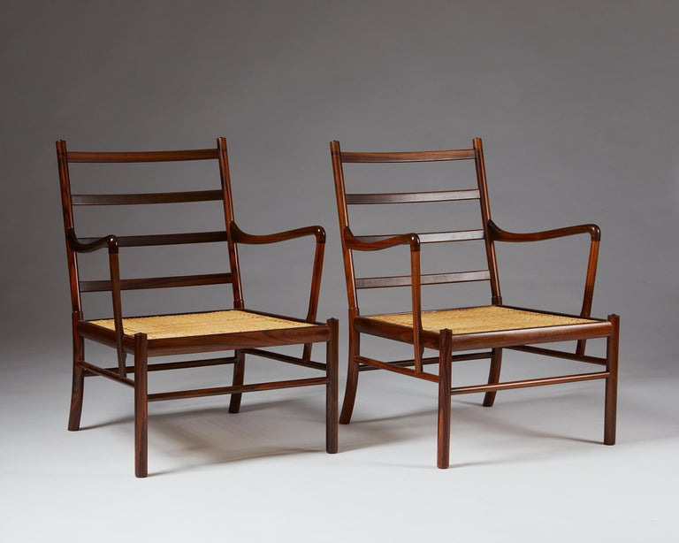 """Mid-20th Century Pair of Armchairs, PJ 149, """"Colonial"""", Designed by Ole Wanscher for P. Jeppesen For Sale"""