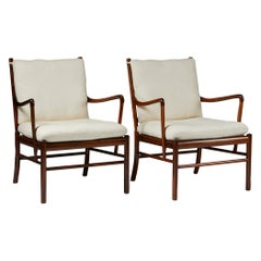 "Pair of Armchairs, PJ 149, ""Colonial"", Designed by Ole Wanscher for P. Jeppesen"